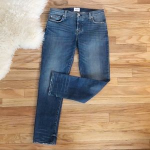 Hudson Riley Crop Button Fly Jeans